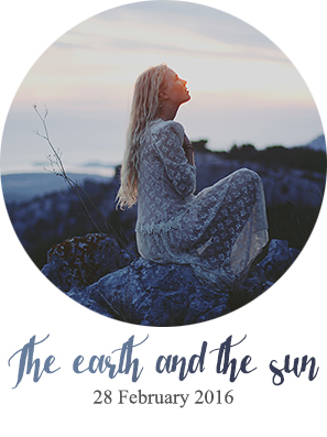 the earth and the sun